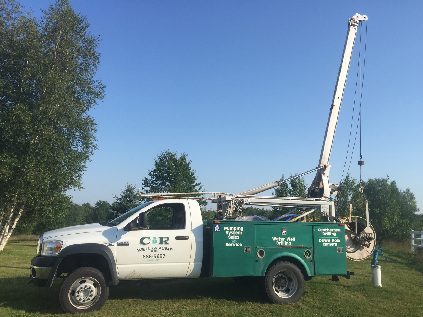 C&R Well and Pump, Inc., Specialists in drilled water wells and submersible pump systems, Bowdoin, Maine